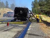 Motorhome fire Hwy 20 Penn Valley