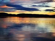 Sunset over Waukewan