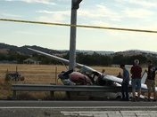 San Martin Airport Small plane wreck