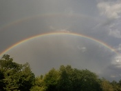 Beautiful double rainbow over Greenville