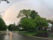 Evening rain ow