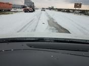 hail storm between Santa Rosa and Clines Corners