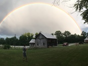 Rainbow in Milford New Hampshire Sunday nite