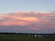 Orange clouds at the airport at sunset Monday June 26th.