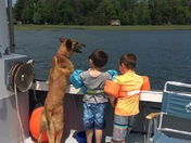 Taking a ride on Papa's lobster boat