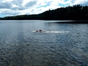 Beautiful day to swim on the lake with one of my dear friends.  We love to swim