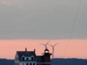 Sunrise 6/26/17 over Penobscot bay, Rockland, Me.