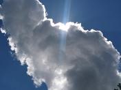Blue sky big clouds