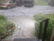 Hail from thunderstorm