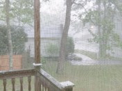 Rain and thunder in Milford, MA