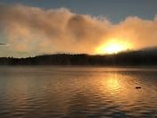 Sunrise on Webster Lake, Franklin, NH
