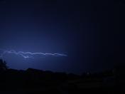 Lightning from overnight storm June 28, 2017
