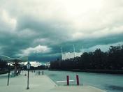Thunderstorm over Disney Springs.