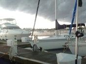 storm over McKinley Marina