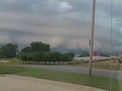 Storm front clouds