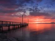 Sunset near Crescent beach Surrey BC