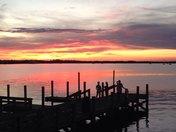 sunset in titusville