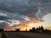 Sunset near Bennington