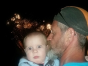 My grandson's first fireworks!