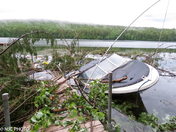 Tornado Damage on Moose Pond in Denmark, Maine