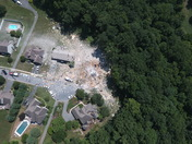 Aerial shots of Millersville home natural gas explosion