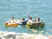 Rafters enjoying the South Yuba River below Parks Bar July 02 2017.