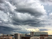 Stormy skies over Downtown Omaha