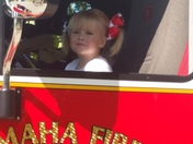 Fire fighter in training