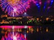 Fireworks over Back Bay