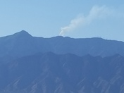 Fire this morning on Sandia Mountain.