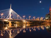 Esplanade bridge night scene in June 30th
