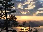 Sunset over Summerland, BC