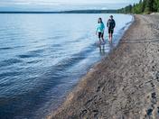 Lakeside walk at Waskesiu Lake, Prince Albert National Park, Saskatchewan