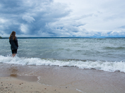 Standing up to the storm at Waskesiu Lake, Prince Albert National Park, Saskatch