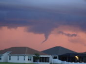 Funnel cloud seen from Kissimmee