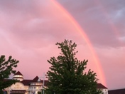 double rainbow over Blue Harbor in Sheboygan