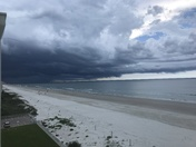 Storms north of Ponce Inlet