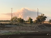 Yuba City Fire from Riverfront MX Park