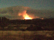 BUTTE COUNTY FIRE AT NIGHT FROM LOMA RICA RD.