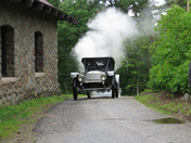 1912 Stanley Steamer chugging to the Carriage House at The Castle In The Clouds