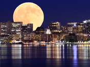 Halifax Skyline & Moon Composite