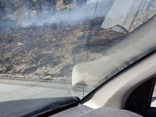 Fire at CA/NV state line