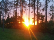 Down 40 sunset