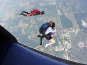Skydive Tandem Exit 13,000 feet above Winterset Airport