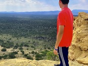My son at the El Malpais overlook
