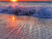 Sea coast sunrise