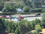 CalStar Helicopter landing on Highway 1