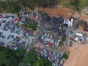 Red Lion Salvage Yard Fire Aftermath