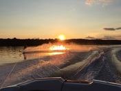 Making fire on Lake Opechee Laconia