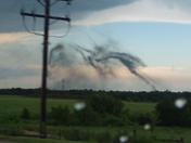 Black clouds coming from ground norman